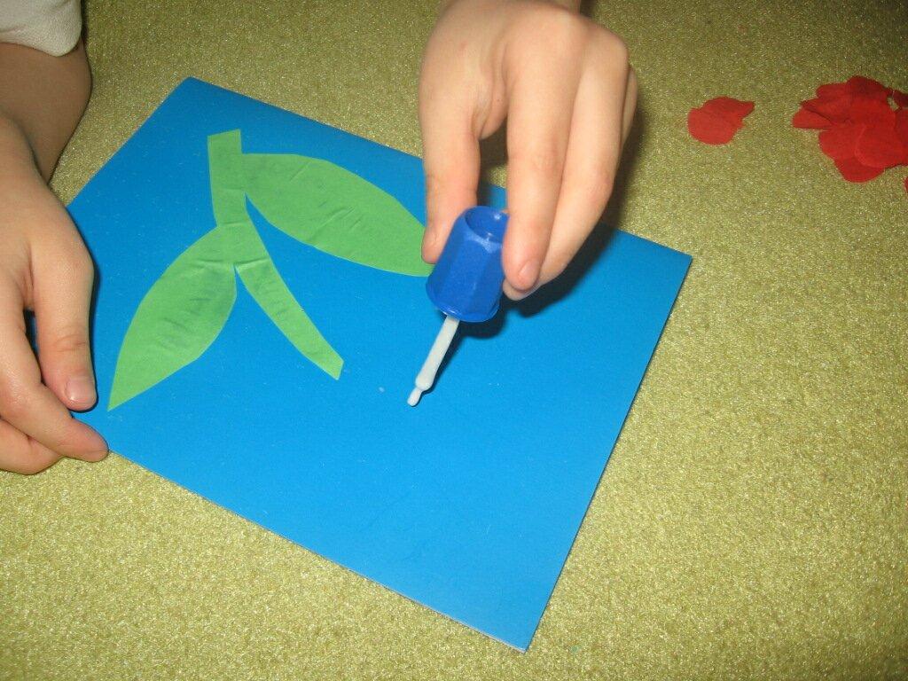 Как сделать открытку без клея на 8 марта