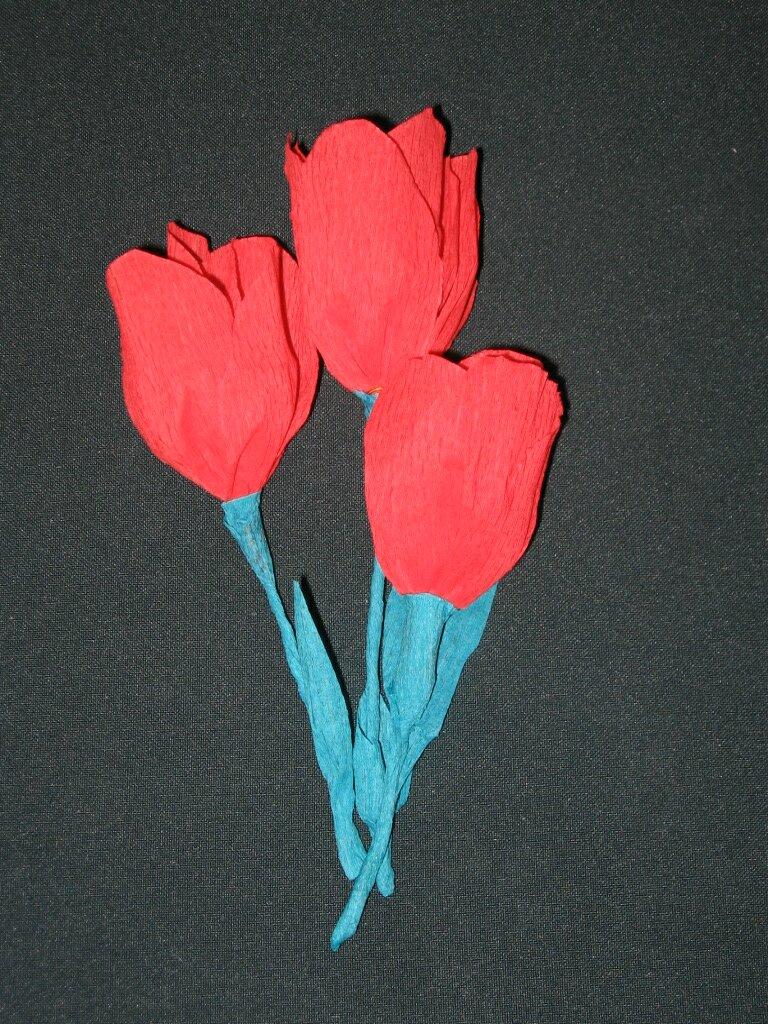 Открытка, гофрированная бумага цветы для открытки