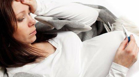При простуде беременным 8 месяцев